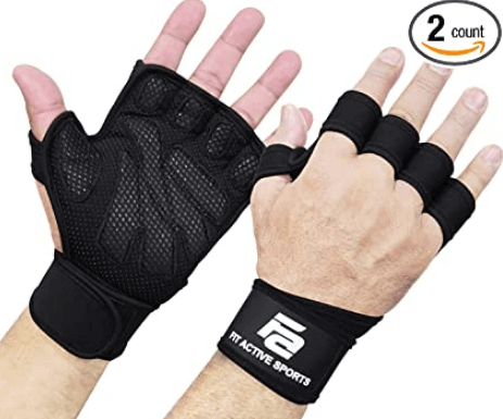 10) Fit Active Sports Grips for CrossFit and Weight Lifting