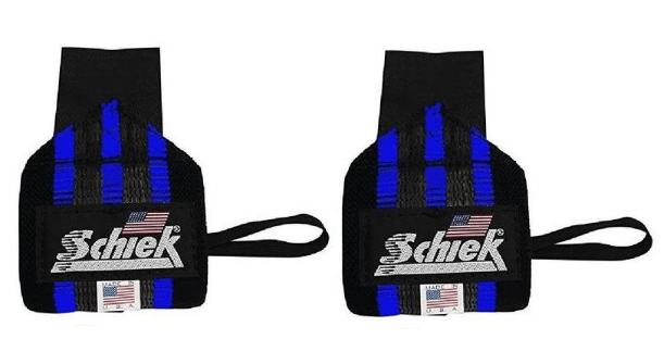 Schiek Sports Blue Line Wrist Wraps
