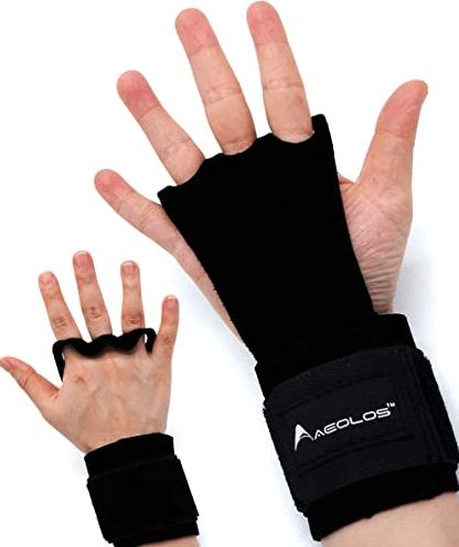 5) AEOLOS Leather Gymnastics Hand Grips