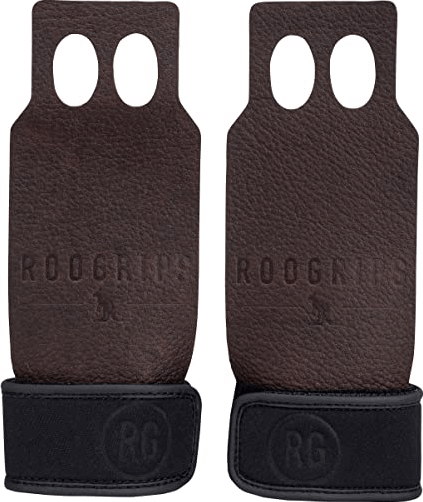 6) RooGrips Leather Hand Grips