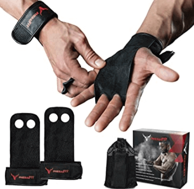 7) PHERAL FIT Natural Leather Hand Grips