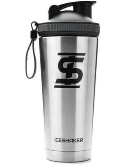 7) Ice Shaker Stainless Steel Protein Mixing Cup