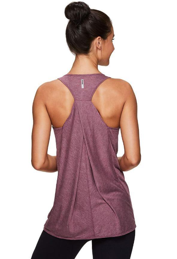 8) RBX Active Women's Back Detail Yoga Tank Top