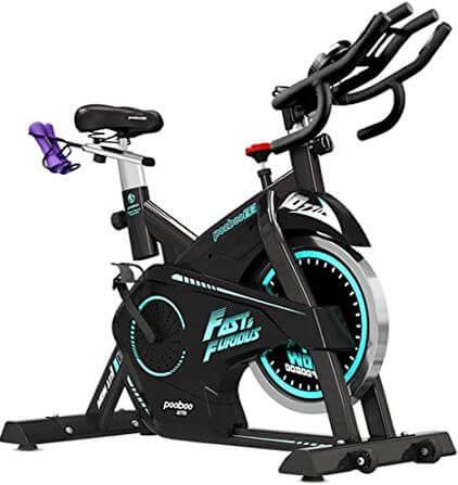 1) Pooboo Magnetic Exercise Bike