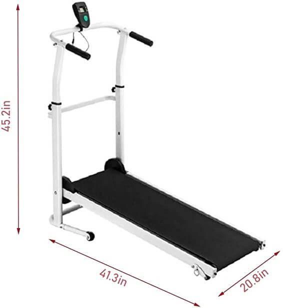 1) FASESH Folding Non-Electric Treadmill