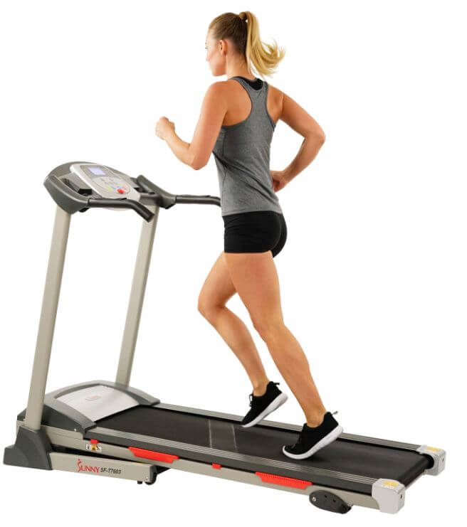 2) Sunny Health & Fitness SF-T7603 Electric Treadmill