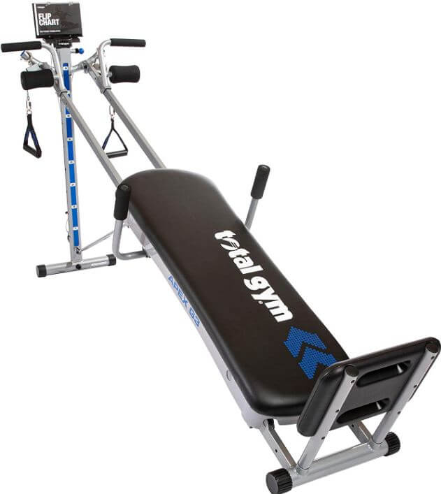 2) Total Gym APEX G3 Versatile Indoor Home Workout Total Body Strength