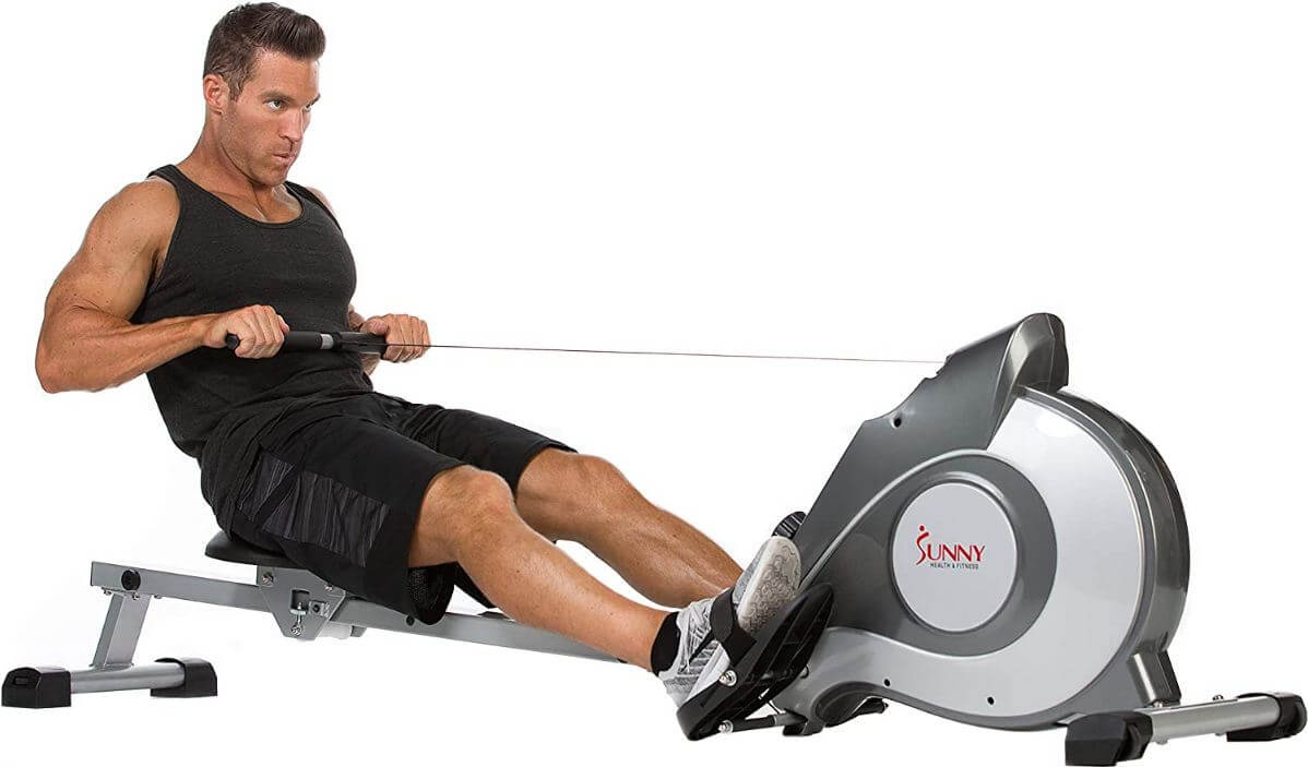 5) Sunny Health & Fitness SF-RW5515 Magnetic Rowing Machine