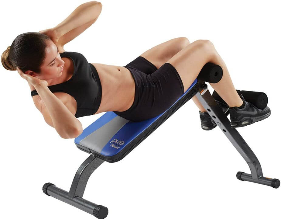 6) Pure Fitness Adjustable Ab Crunch Sit-up Bench For Toning And Training