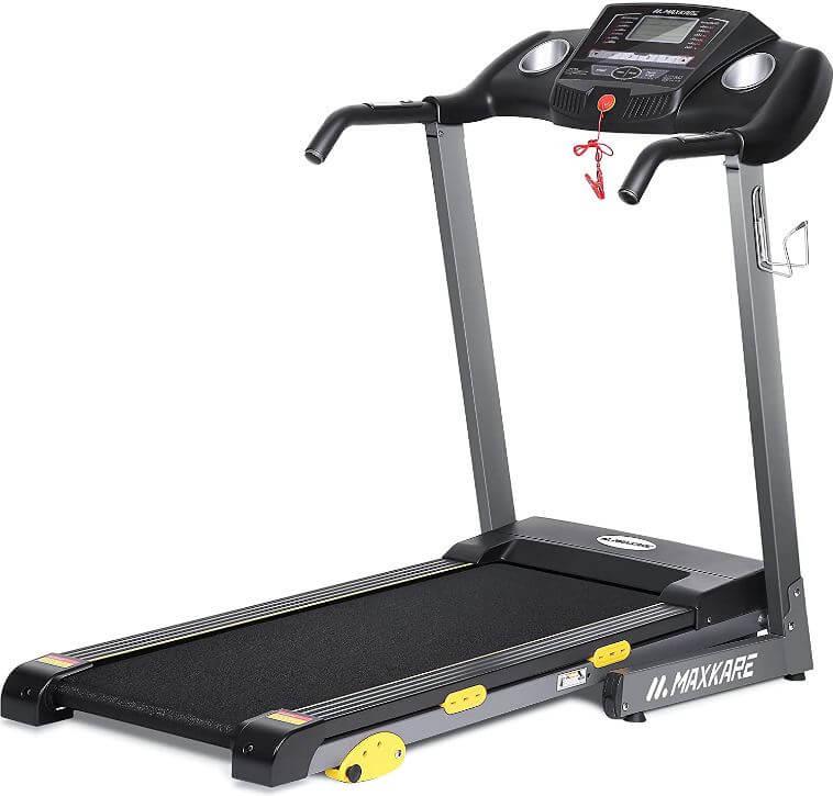 8) MaxKare Folding Treadmill