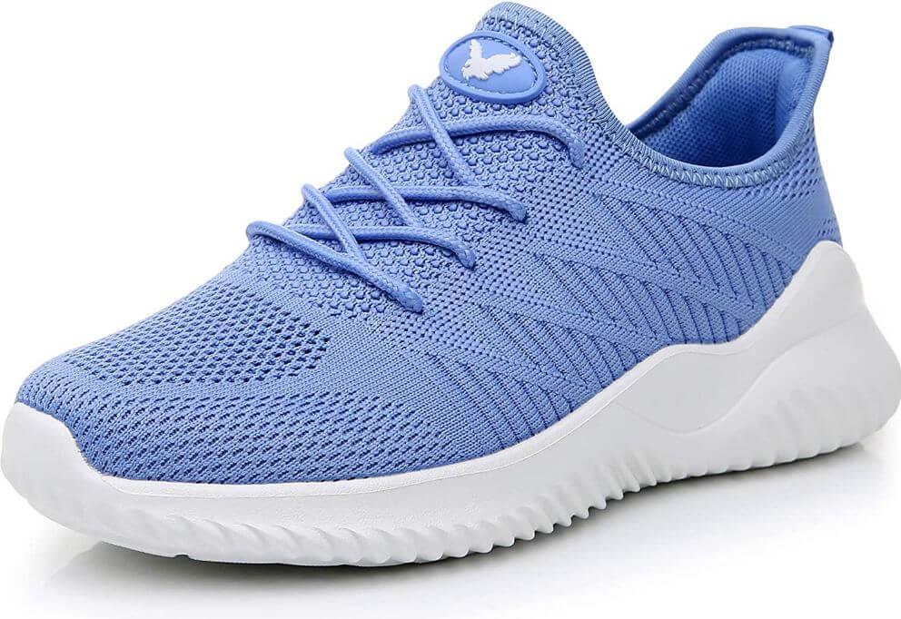 4) JARLIF Women's Memory Foam Slip-On Walking Tennis Shoes