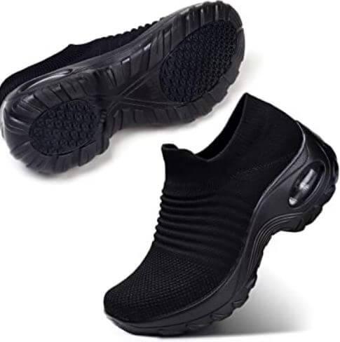 5) Slip-On Breath Mesh Women Walking Shoe
