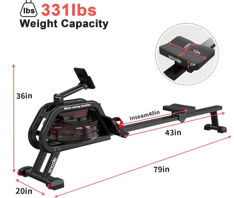 06) SNODE Water Rowing Machine