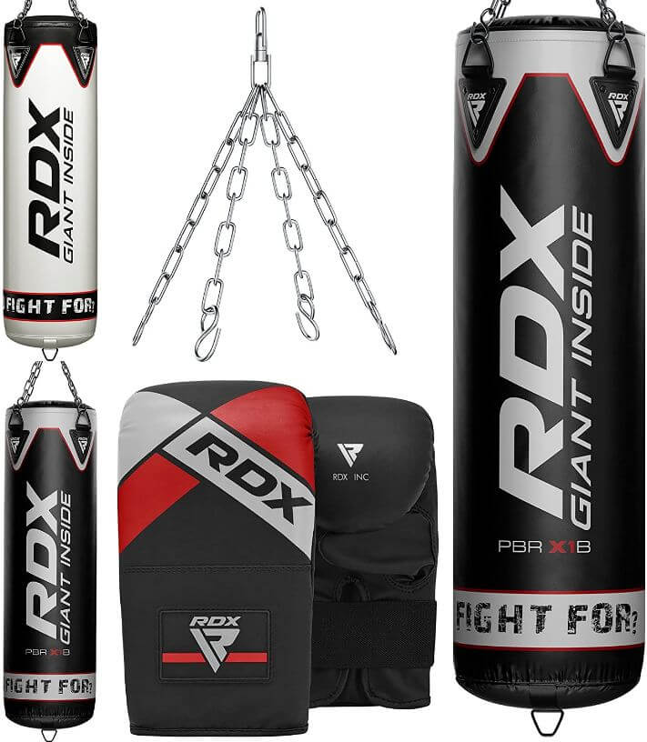 3) RDX Punching Bag With Gloves